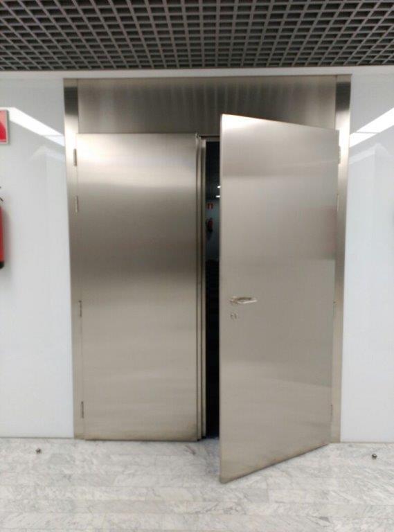 Danet Inoxidables - Puerta Doble Cortafuegos E12-60 C5 en Acero Inoxidable