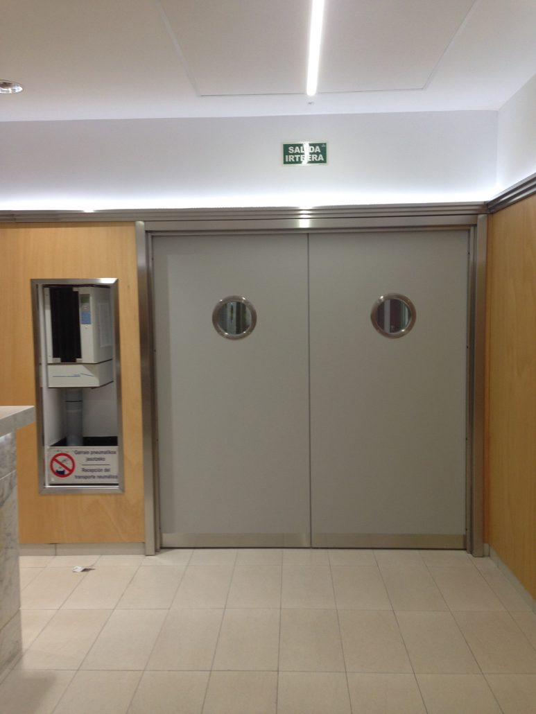 Danet Inoxidables - Puerta Doble Cortafuegos EI2-60 en Skinplate Gris
